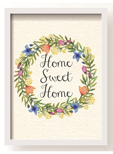 Home Sweet - Çiçek Poster-All About Wall